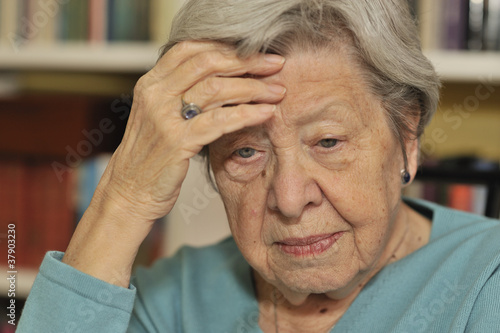Portrait of Sad Senior Woman 2