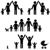 People silhouette family icon. Person vector woman, man. - 37904065