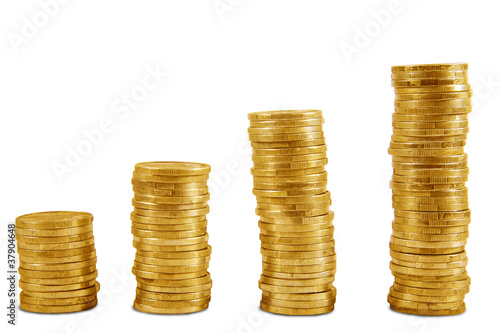 Uptrend gold coins