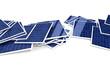 Anhäufung von Solarpanelen