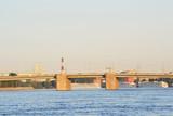 Neva river and Volodarsky bridge, St.Petersburg poster