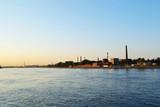 October embankment and Neva river poster