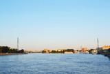 View of Neva river, St.Petersburg poster