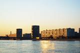 Neva river and October embankment, St.Petersburg poster