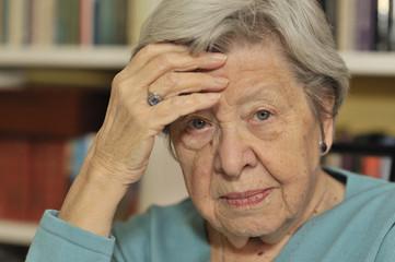 Portrait of Sad Senior Woman 8