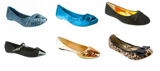 woman flat ballerina shoes