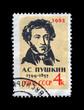 USSR-CIRCA 1962:famous russian poet, writer Alexander Pushkin