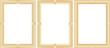 Постер, плакат: комплект стильных деревянных рамок для фотографий и картин