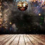 Fototapety Grunge disco ball