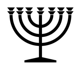 Jewish Menorah candlestick