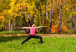 Yoga virabhadrasana pose