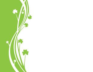 Green vectors background