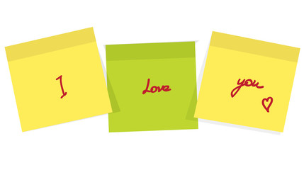 Post it  for reminder note with love message