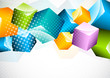 Abstract backgrond with colorful cubes