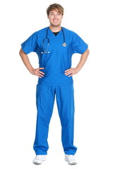 Male nurse or doctor isolated