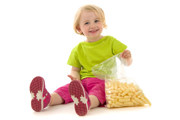 Child with snack