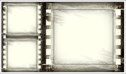Set of Old Blank Film Strip
