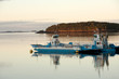 Toll ferries around Deer Island in Bay of Fundy, Canada