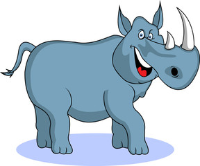 funny rhino cartoon