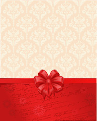 Vintage background with a bow