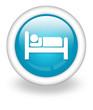 "Light Blue Icon ""Hotel / Lodging"""