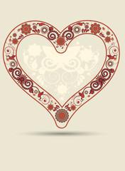 vintage heart background
