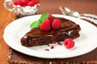 chocolate cake with raspberry