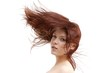 canvas print picture - Beautiful woman and flying hair