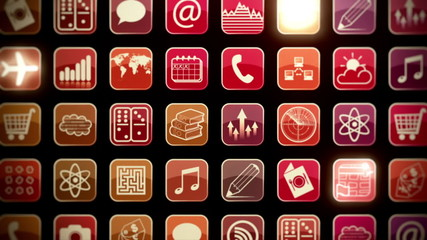 Mobile Apps Wall Zoom Out