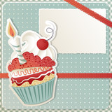 Fototapety Dolcetto di compleanno - Birthday Cupcake