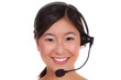 attraktive asiatische telefonistin