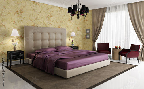 chic luxury hotel purple gold bedroom with chandelier by 15431 | 400 f 37924473 gp0tzi8qnsibbvzdymwpj4its8stczpj