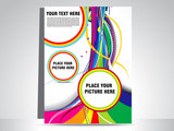 Fototapety abstract colorful wave flayer