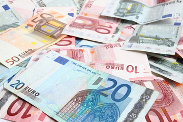 background of the euro money