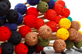 Coloured heads of marimba mallets