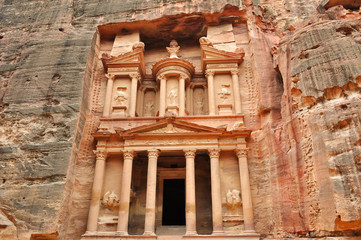 Al Khazneh front view - the treasury of Petra ancient city