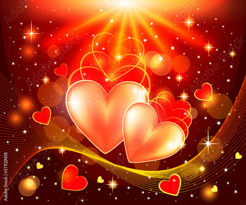 romantic vector background