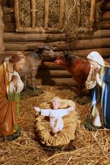 Crèche de Noël. Nativité