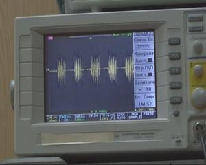 Oscilloscope, spectrogram.