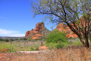 Scenic red rock mountains in Sedona, Arizona
