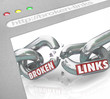 Bad Broken Links Website Screen Chain Connections