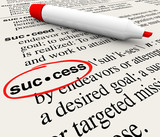 Success Word Definition Meaning Circled in Dictionary