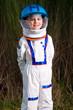Boy in an astronaut suit
