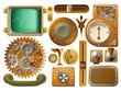 Victorian Steampunk design elements - 37937600