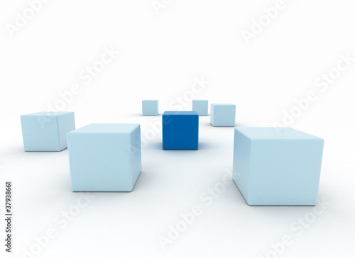 Standing out business concept