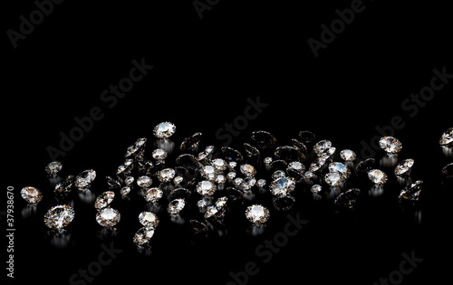 Diamonds on black background
