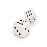 dice on the white background