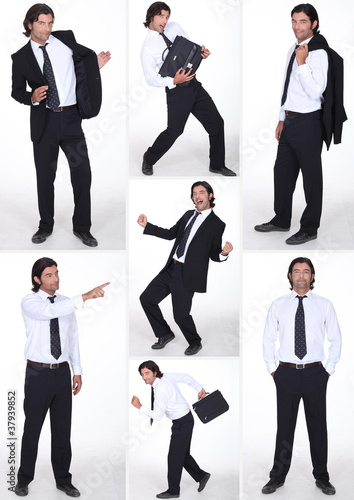 miscellaneous full-length shots of businessman