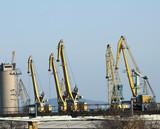Commercial port cranes