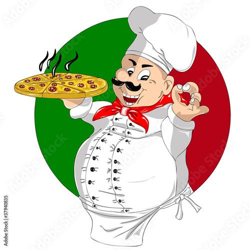 Pizza Chef Logo Pizza Chef-cook Imágenes de